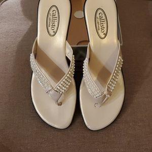 Callisto Rorrie studded wedge sandal